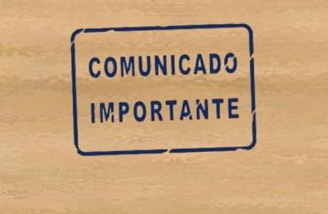 COMUNICADO DE FUNCIONAMENTO