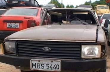 Carros Apreendidos no pátio do DETRAN
