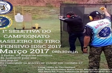 SELETIVA NACIONAL AGITA ESTANDE DE TIRO DO SINDIPOL/ES NO FINAL DE SEMANA