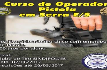 CTTE PROMOVE CURSO DE TIRO NO SINDIPOL/ES