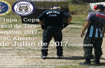 INSCRIÇÕES ABERTAS PARA 7ª ETAPA DA COPA BRASIL DE TIRO DEFENSIVO