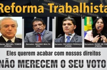 REFORMA TRABALHISTA SERÁ VOTADA HOJE NO SENADO