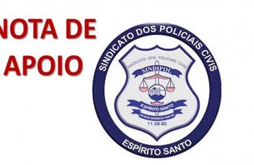 SINDIPOL/ES DECLARA APOIO AOS POLICIAIS CIVIS DO MARANHÃO