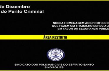 04 DE DEZEMBRO: DIA NACIONAL DO PERITO CRIMINAL