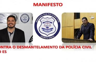SINDIPOL/ES E A CRISE NA SEGURANÇA CAPIXABA: MANIFESTO CONTRA O DESMANTELAMENTO DA POLÍCIA CIVIL