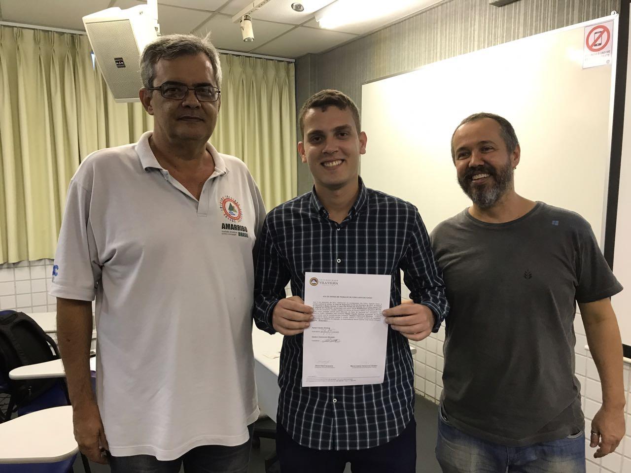 TCC do jornalista Cilio Rodrigues é aprovado pela banca.