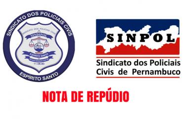 SINDIPOL/ES EXPRESSA SOLIDARIEDADE A ÁUREO CISNEIROS, PRESIDENTE DO SINPOL-PE