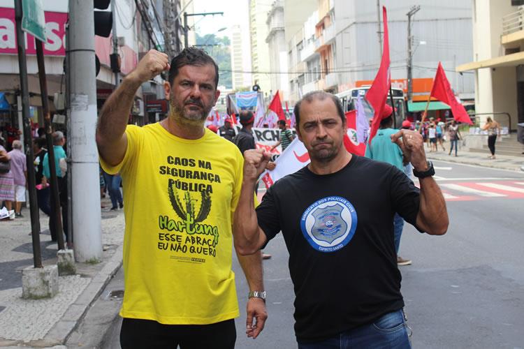 Edimar Vieira (esq.) e Aloísio Duboc (dir.).