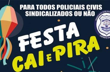 "FESTA ""CAI E PIRA"" AGITA O SINDIPOL/ES"