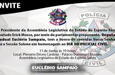 SESSÃO SOLENE VAI HOMENAGEAR POLICIAIS CIVIS