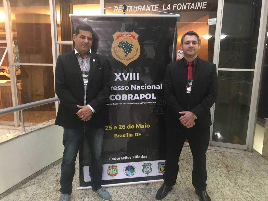 Jorge Emílio Leal, presidente do Sindipol/ES e Thomas Altoé, presidente de Aepes e diretor de marketing da Cobrapol.