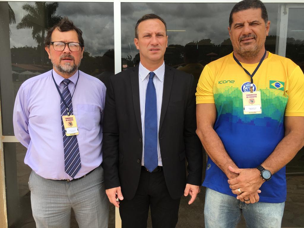 André Luiz Gutierrez, presidente da Cobrapol, Jorge Emílio Leal, presidente do Sindipol/ES e Ubiratan Sanderson (PSL-RS), deputado federal.