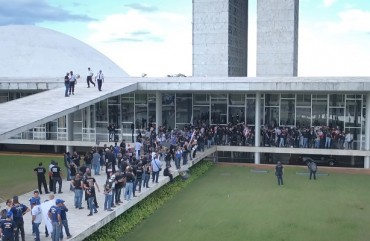 DIRETORIA DO SINDIPOL/ES UNIDA COM POLICIAIS DE TODO O BRASIL CONTRA REFORMA DA PREVIDÊNCIA