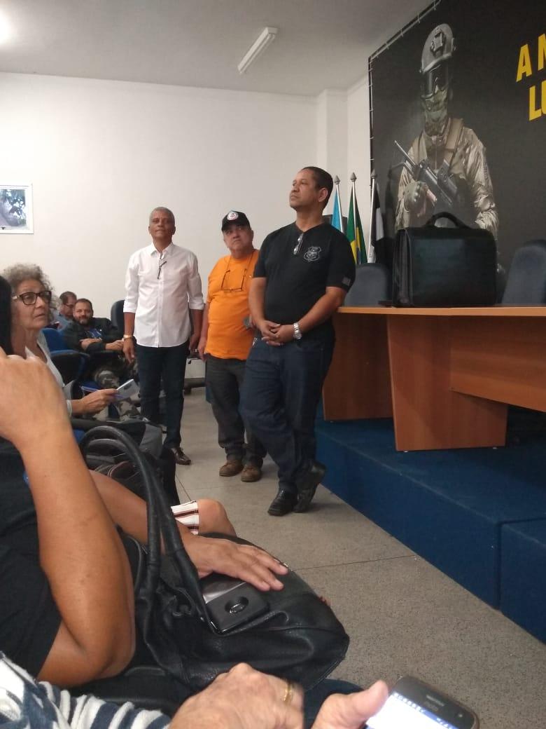 Luiz Antônio de Almeida, presidente da Comissão Eleitoral, durante a Assembleia