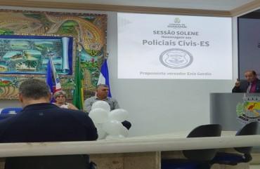 POLICIAIS CIVISSÃO HOMENAGEADOS PORVEREADORES DE GUARAPARI