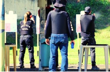 RETORNO DO CURSO DE ARMAMENTO E TIRO PARA POLICIAIS CIVIS NO SINDIPOL/ES